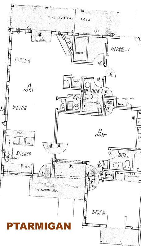 Ptarmigan A And B Floor Plan Mountain Condo Rentals
